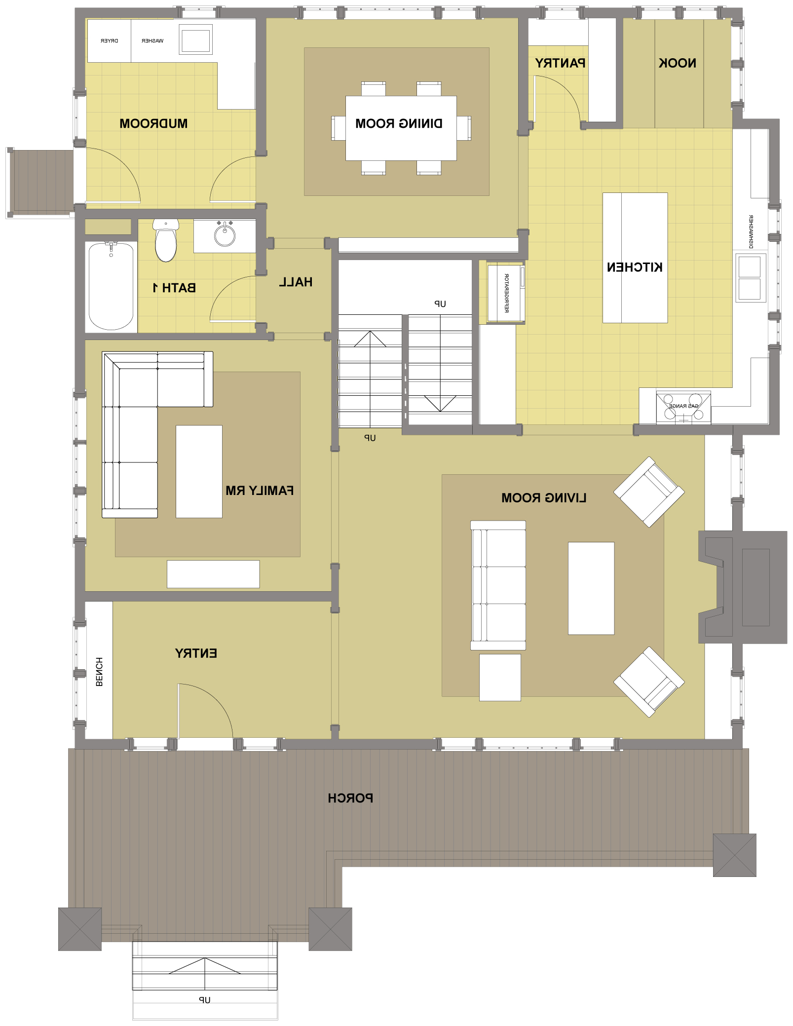 Blakely First Floor - Floor Plan Reverse