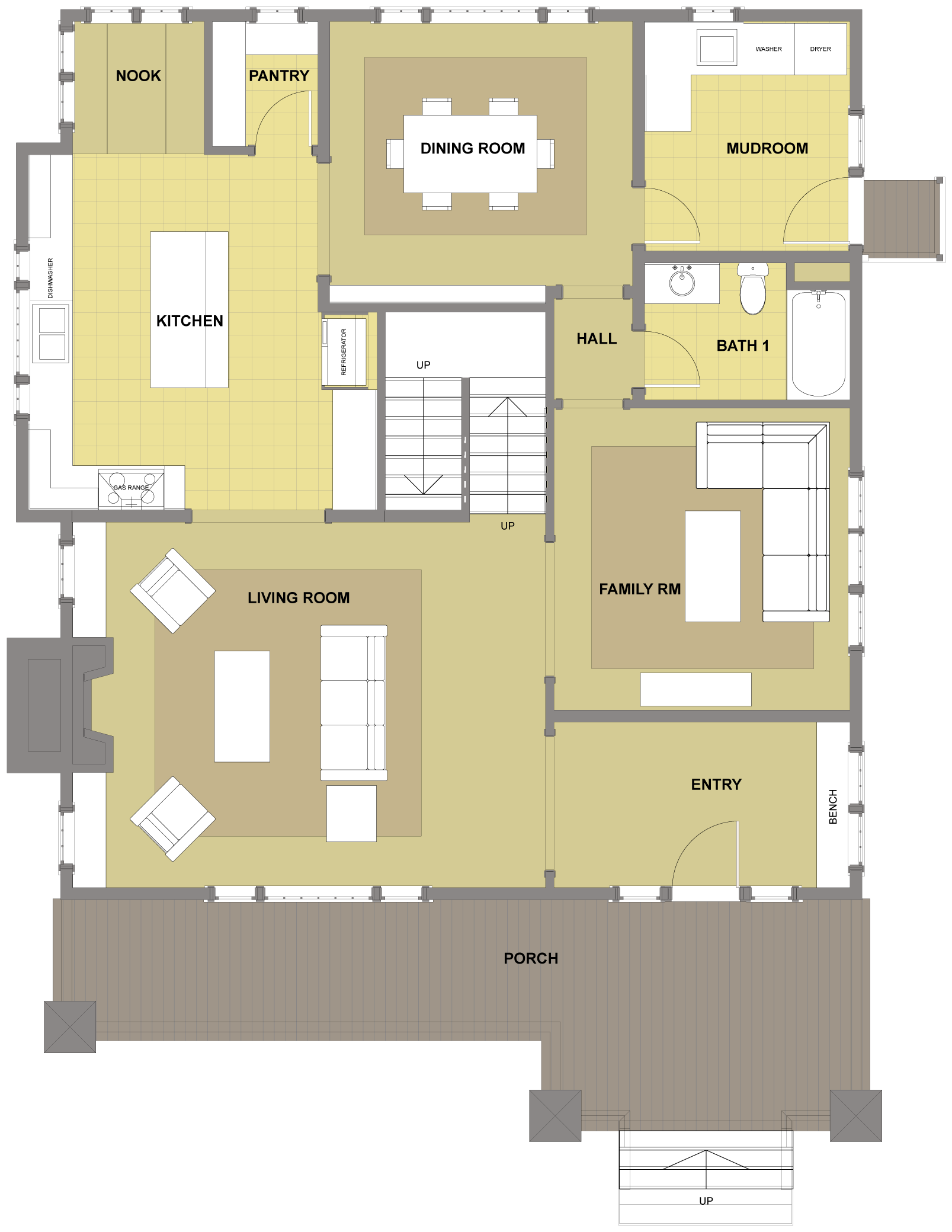 Blakely First Floor- Floor Plan