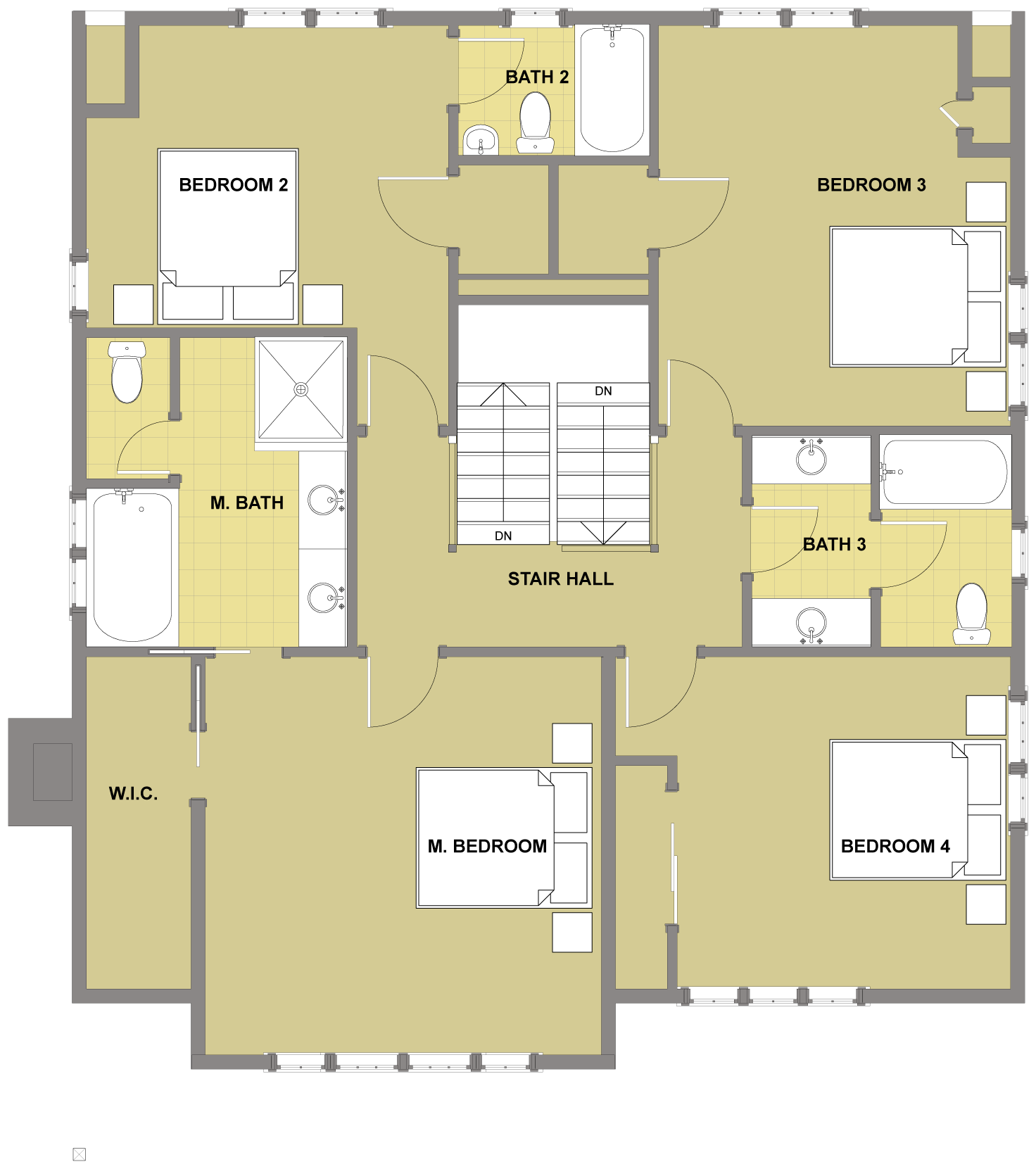 Blakely Second Floor - Floor Plan