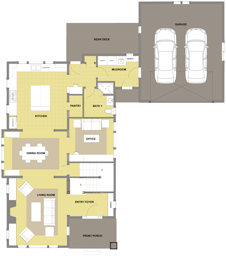 Kitsap First Floor - Floor Plan