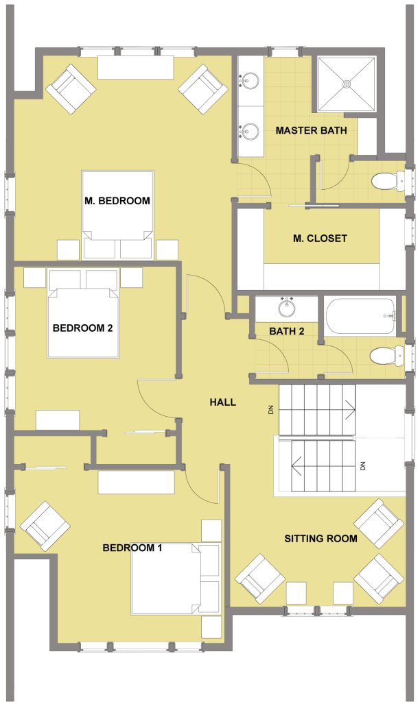 Kitsap Second Floor - Floor Plan Reverse