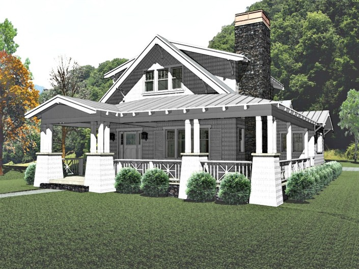 Craftsman bungalow house plans bungalow company for Craftsman small house plans