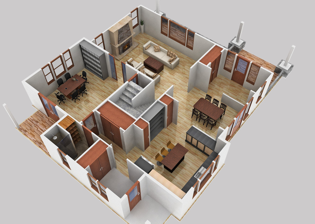 Winslow First Floor - Floor Plan Reverse