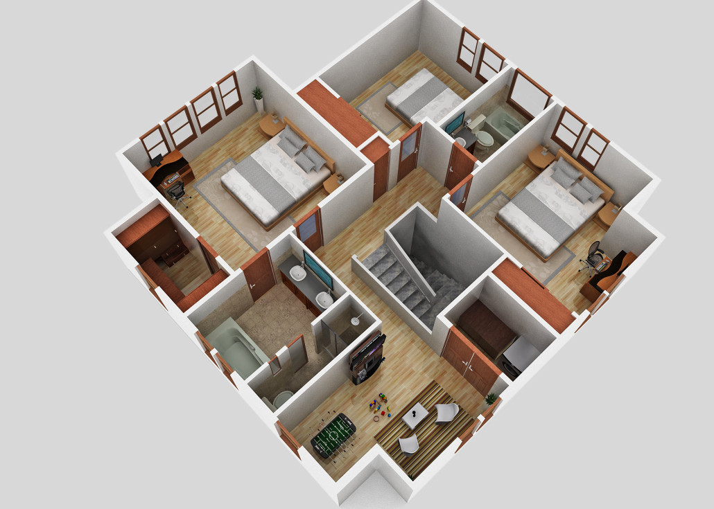 Winslow Second Floor - Floor Plan Reverse
