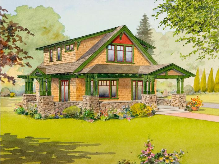 28 the hemlock bungalow company the hemlock for House plan companies