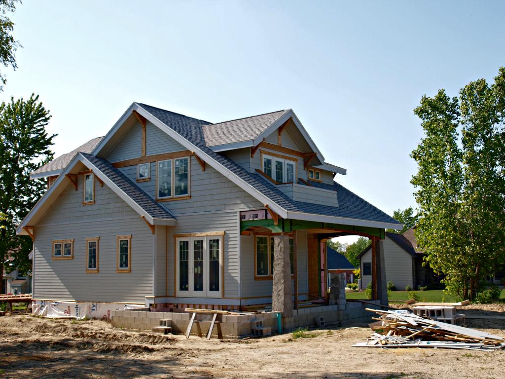 A bungalow company house under construction bungalow company for House building companies