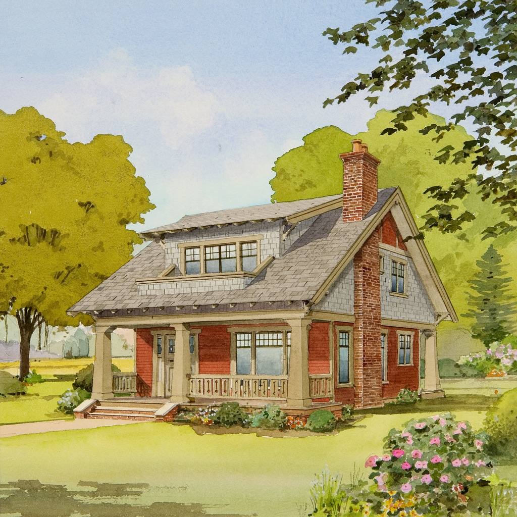 Live large in a small house with an open floor plan for Small craftsman home plans