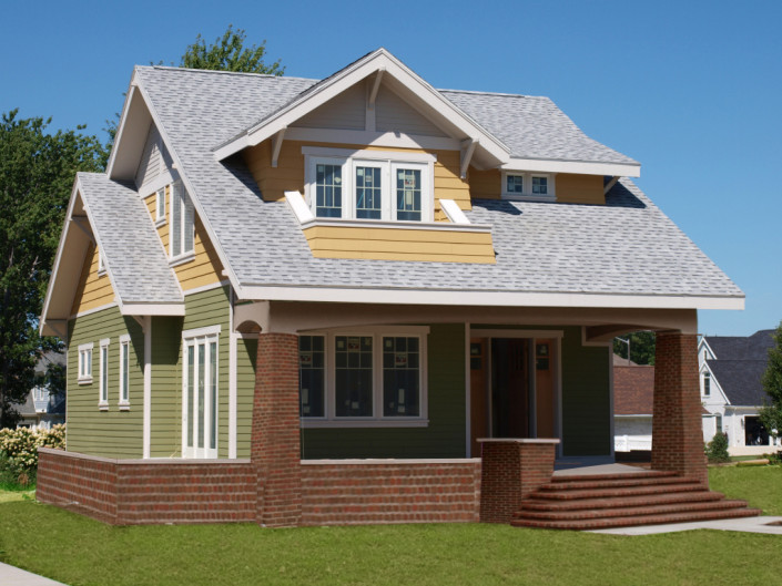 Small house plans bungalow company for Small craftsman bungalow house plans