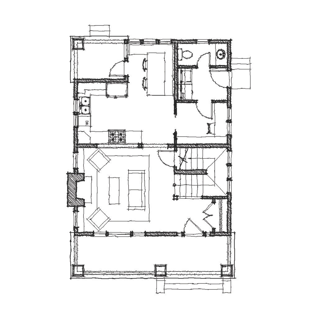 Fox Tail First Floor - Floor Plan