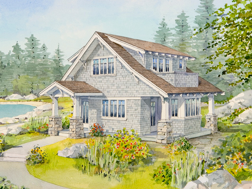 Live large in a small house with an open floor plan for Small cabin home plans