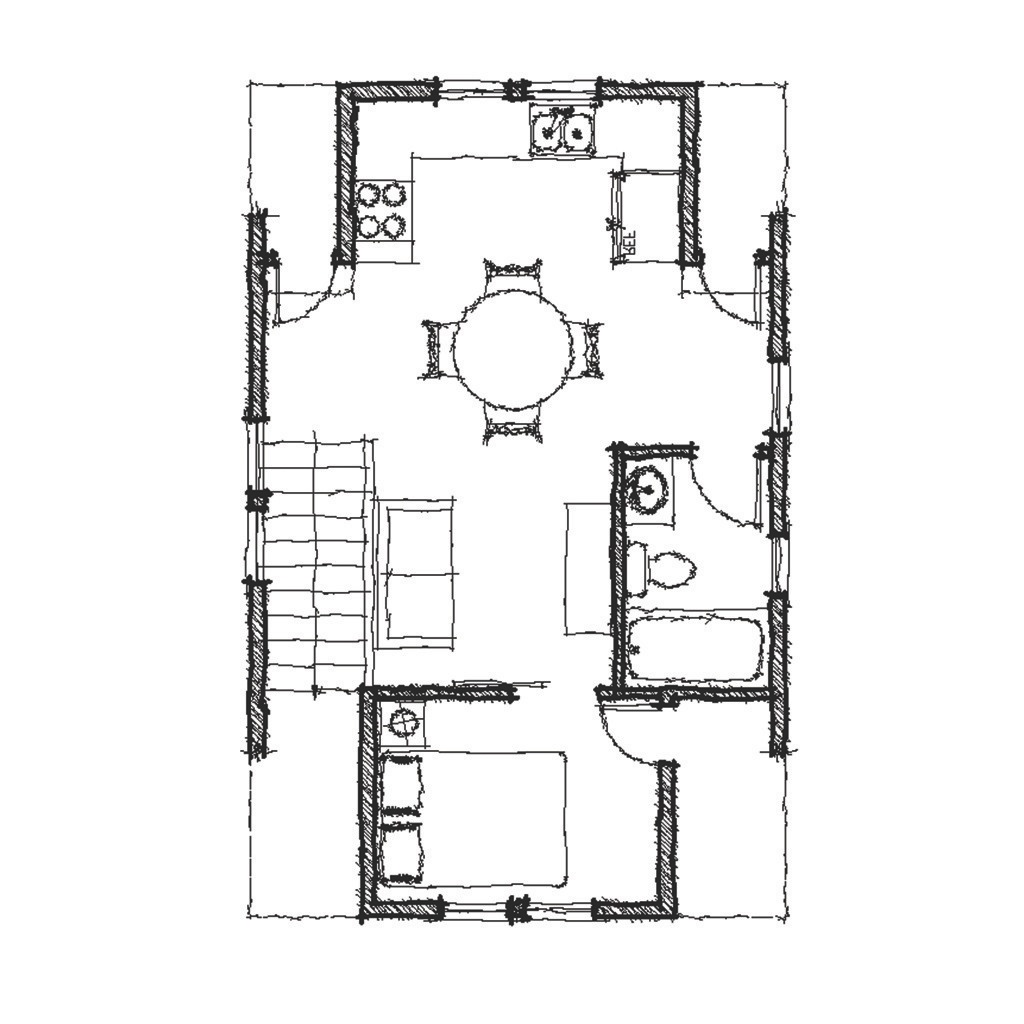 Sweet Pea Second Floor - Reverse Floor Plan