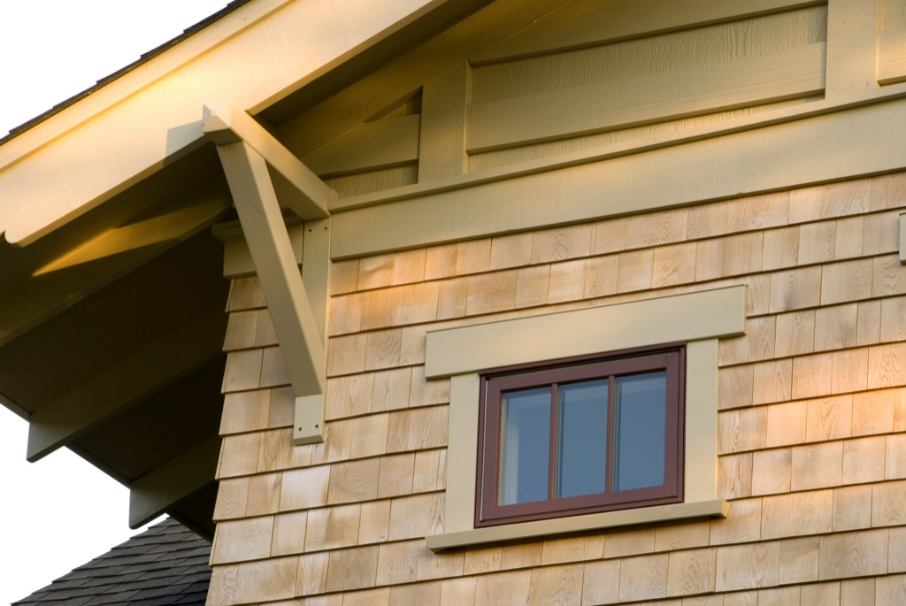 The fir bungalow company for Exterior house brackets