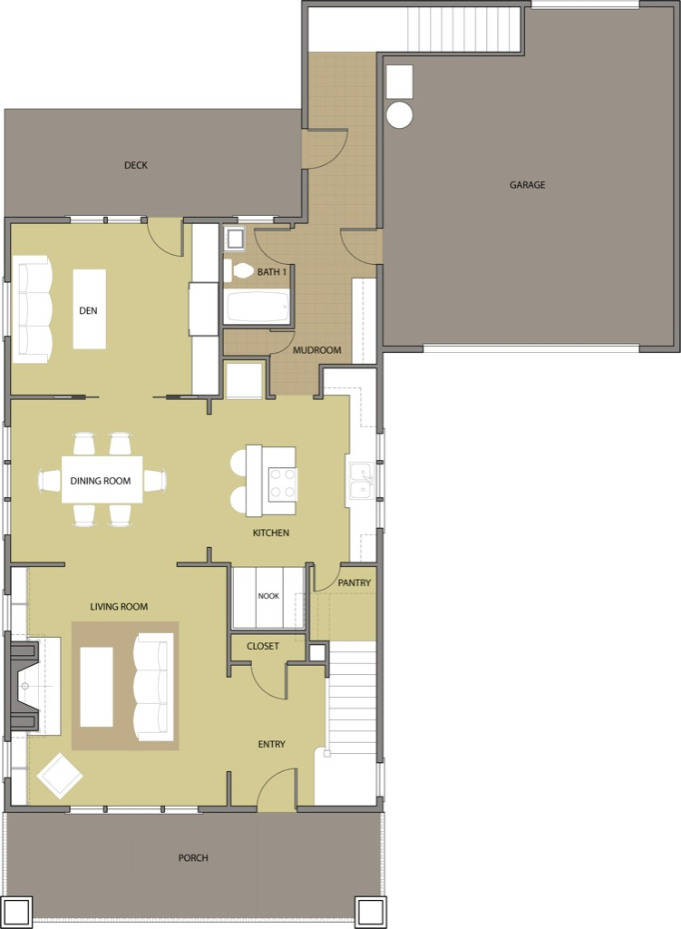 The Fir First Floor Plan Reverse