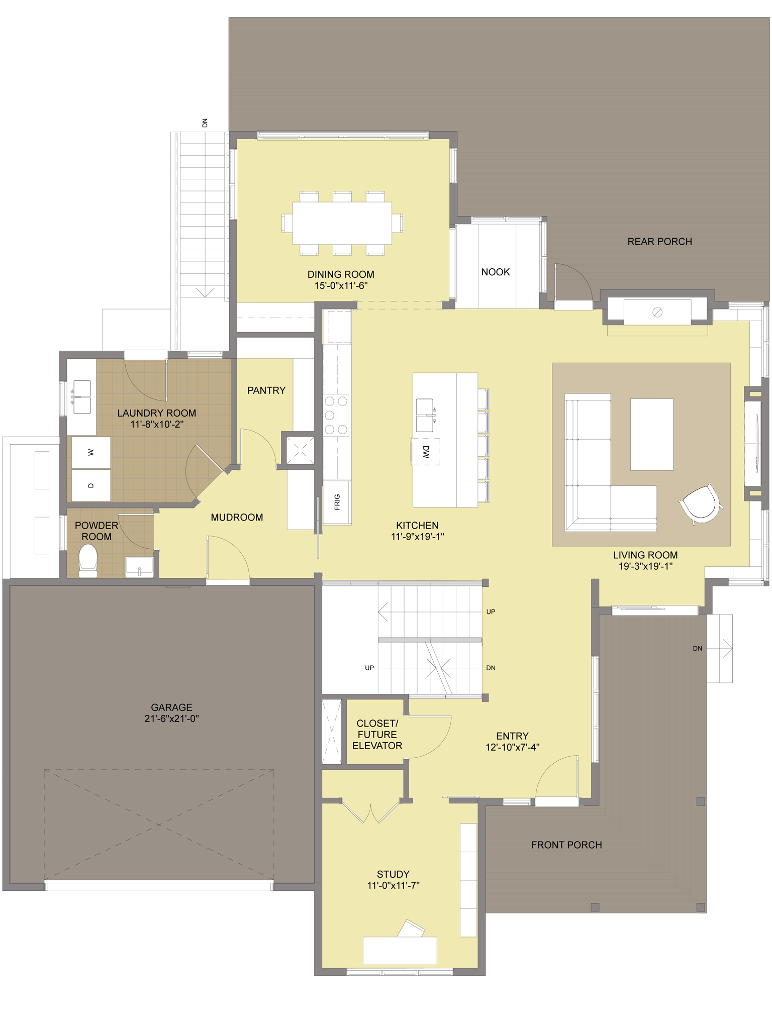 Modern farmhouse floorplan