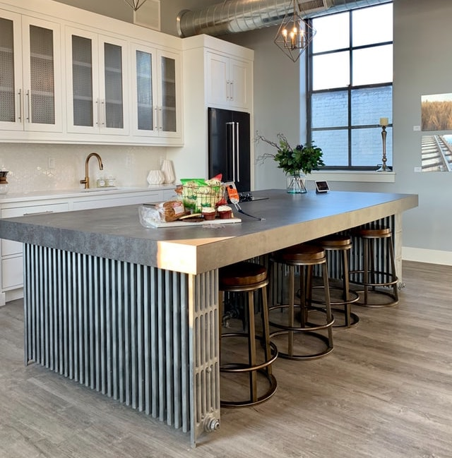 Modern farmhouse industrial island